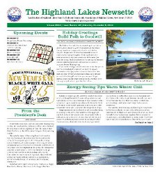 Highland Lakes Newsette 2014.12.06 Cover