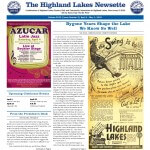 Highland Lakes Newsette - 2015.04.04 Cover