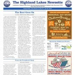 Highland Lakes Newsette - 2015.05.23 Cover
