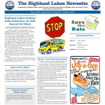 Highland Lakes Newsette 2015.08.29 Cover