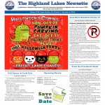 Highland Lakes Newsette 2015.10.03 Cover