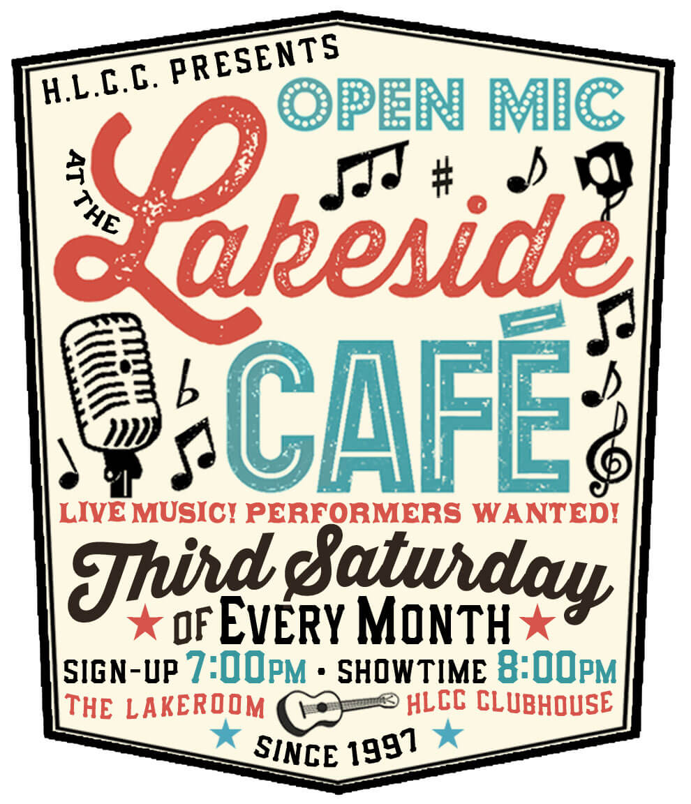 lakeside cafe open mic – saturday, january 21, 2017 – 8 pm