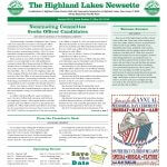 Highland Lakes Newsette 2016.05.28 Cover